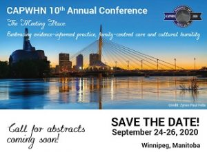 CAPWHN next annual conference is September 24-26, 2020